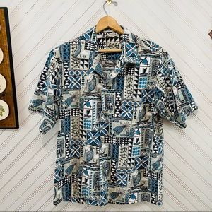 Vintage Made In Hawaii Tribal Island Shirt